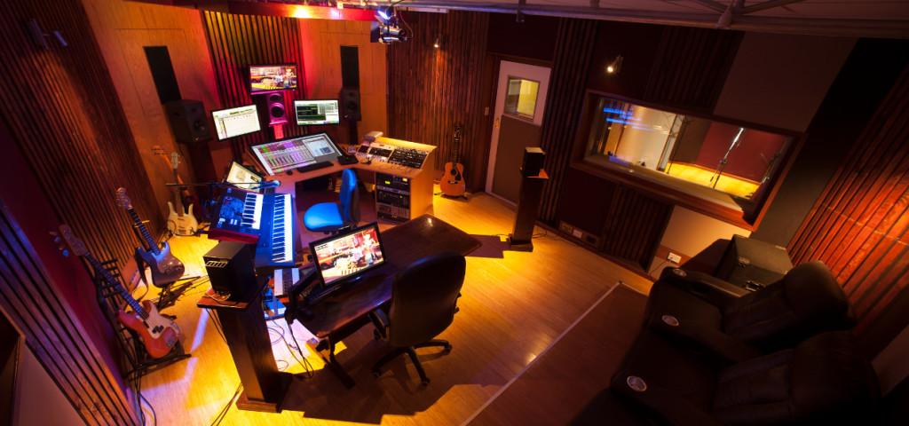 Film Sonic - audio post production studio, control room top view 1